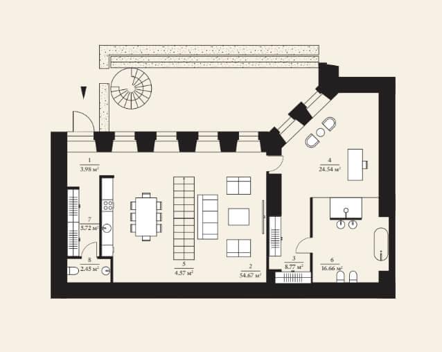 Планировка верхнего этажа таунхауса
