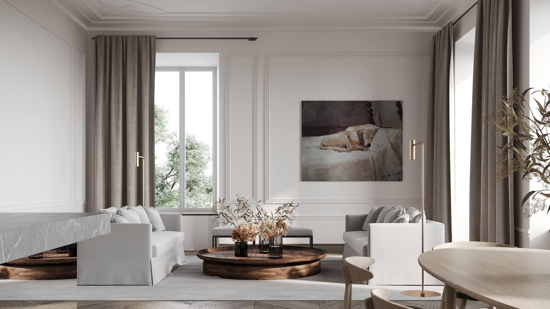 Интерьер гостиной в стиле «Классика»
