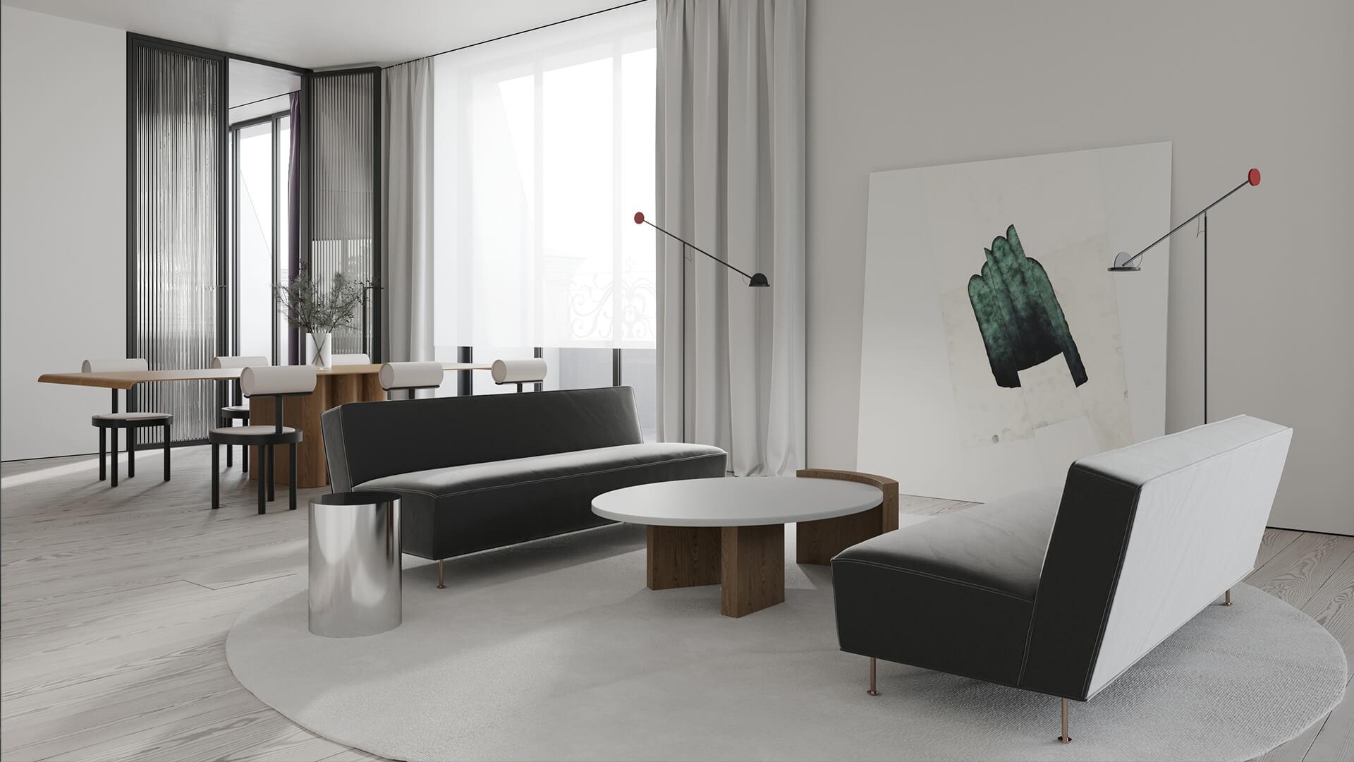 Интерьер гостиной в стиле «Минимализм»