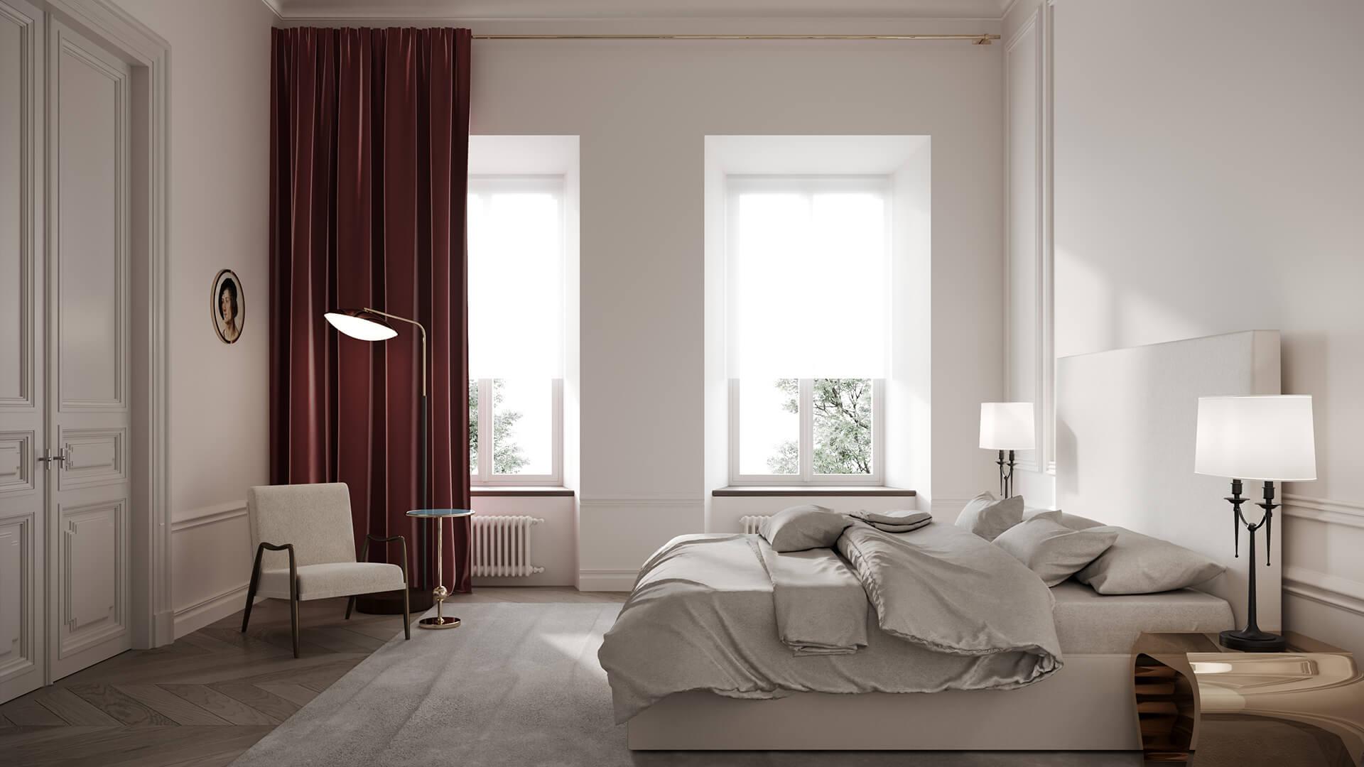 Интерьер спальни в стиле «Классика»