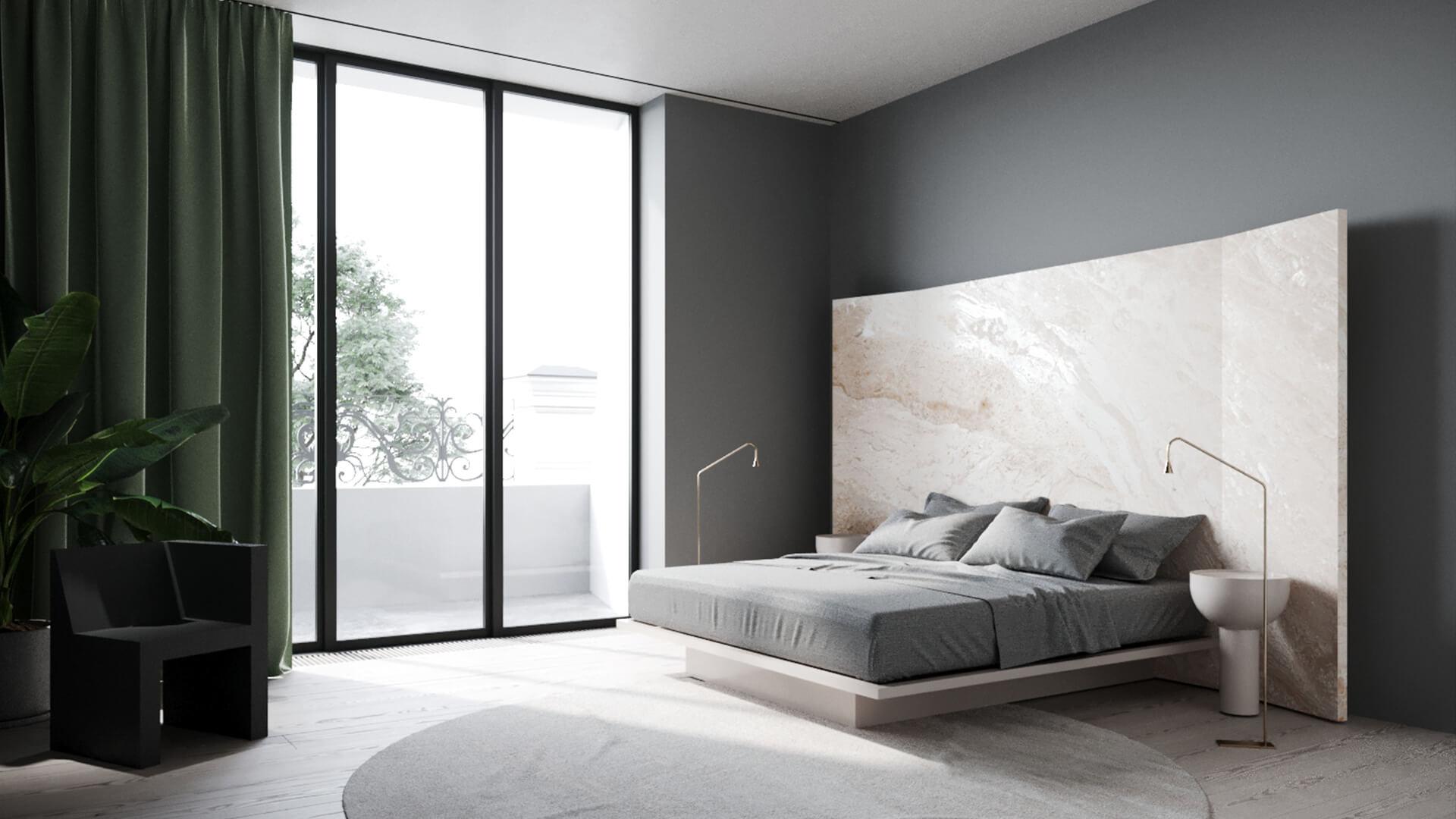 Интерьер спальни в стиле «Минимализм»