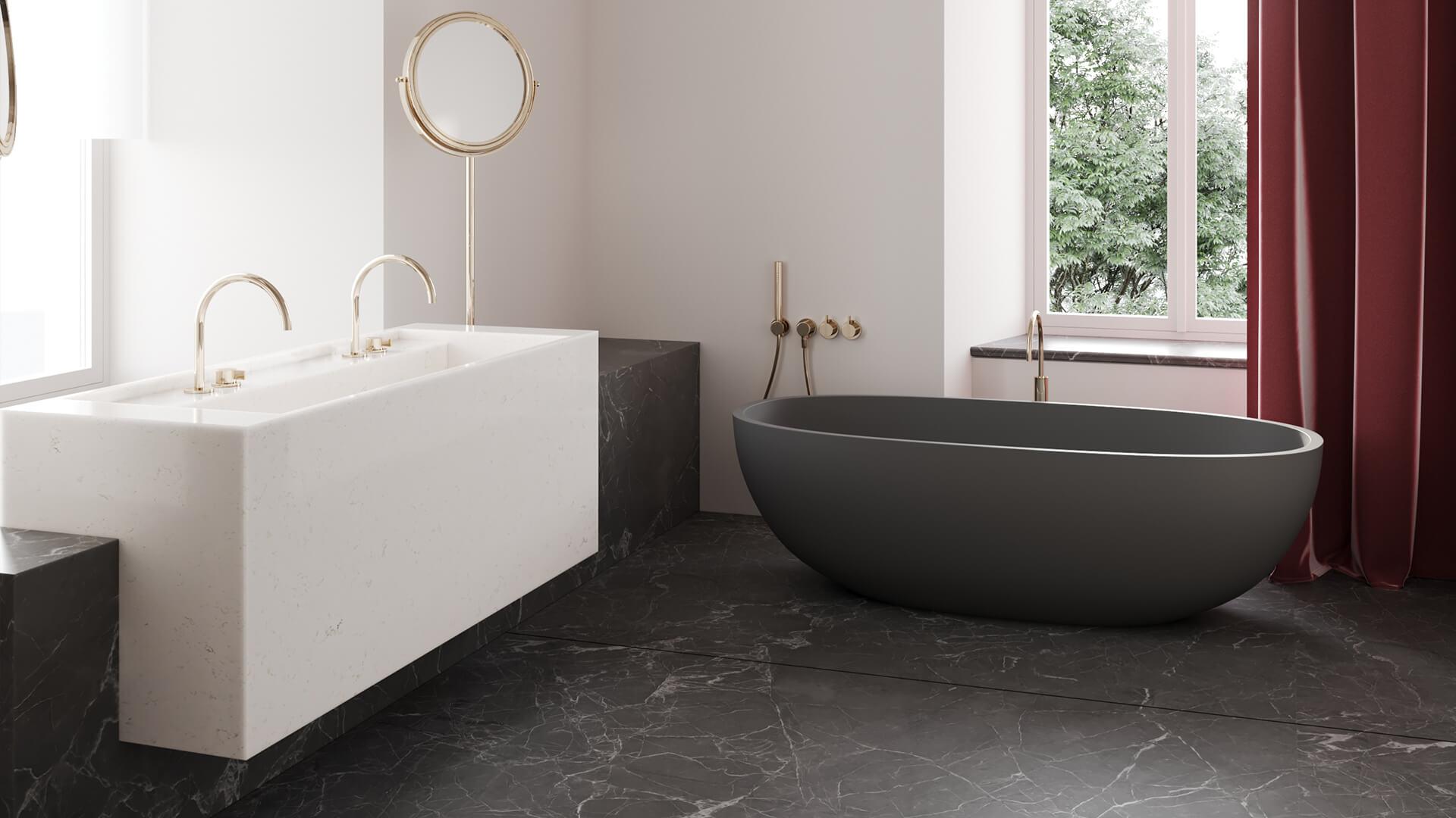 Интерьер ванной в стиле «Классика»