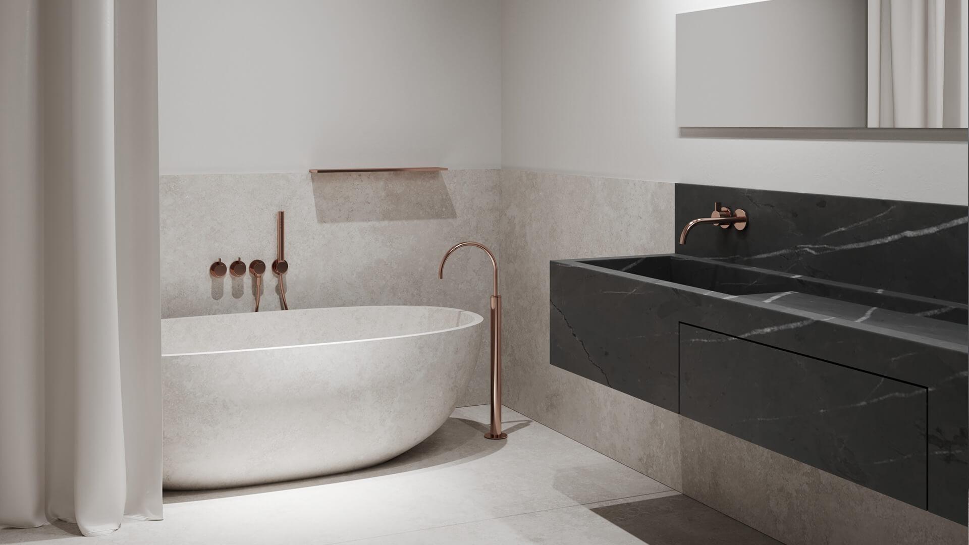 Интерьер ванной в стиле «Минимализм»